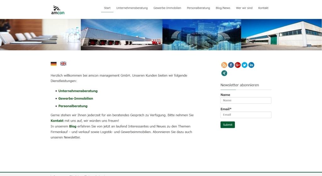 Webdesign Referenzen Amcon Management Gmbh