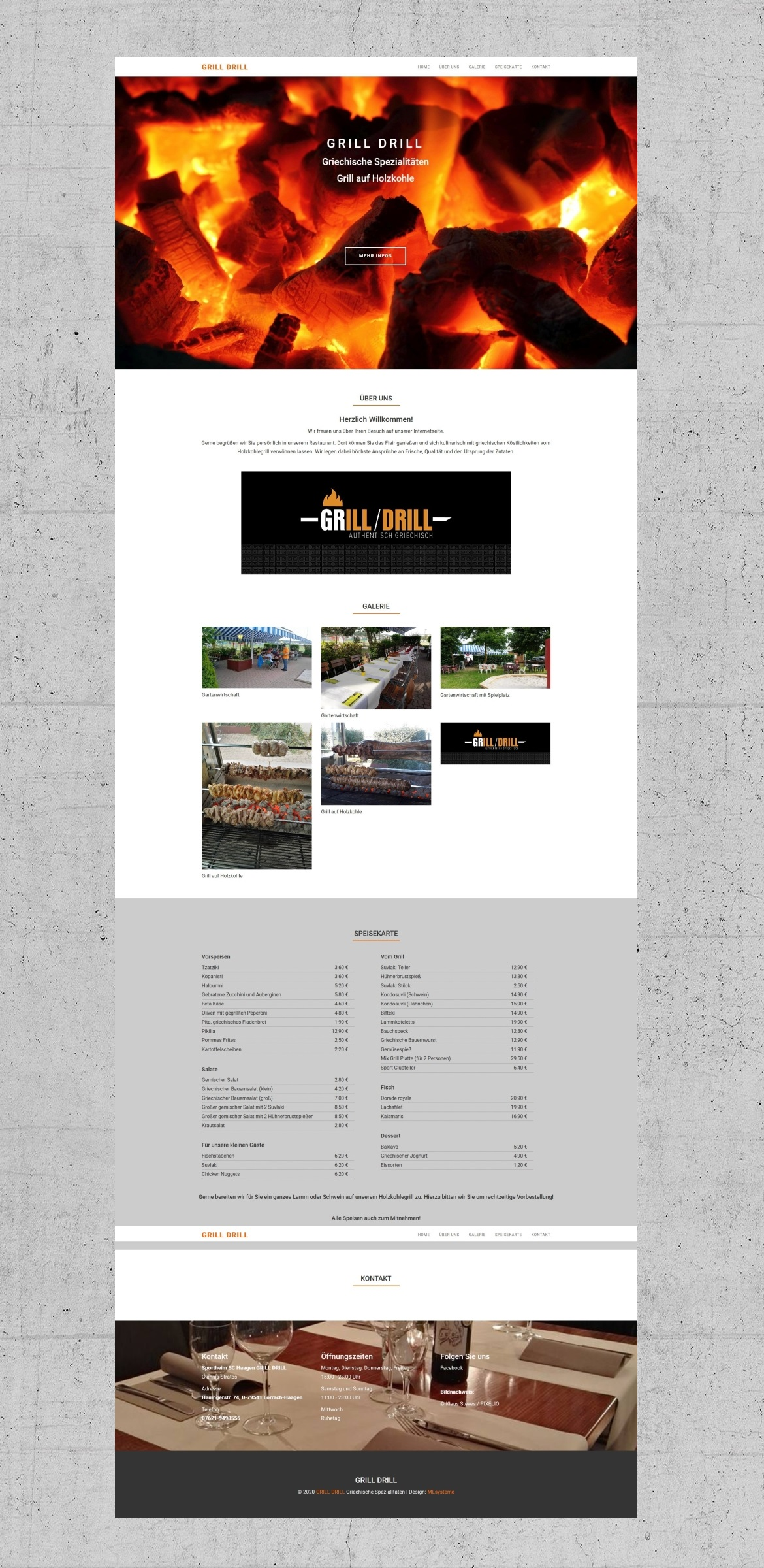 Webdesign-Referenz: GRILL-DRILL